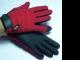 DAMEN - 1 Paar Winter-Golfhandschuhe FLEECE rot